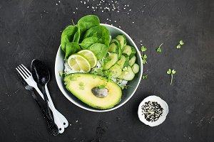 Vegetarian vegetable summer avocado