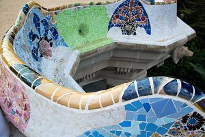 Mosaic sculpture in the Park Guell