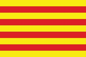 Vector of Catalonian flag.