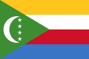 Vector of Comoros flag.