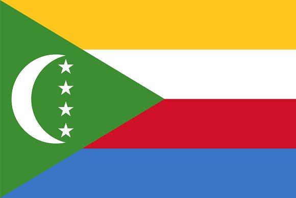 Vector of Comoros flag.