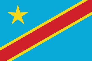 Vector of Congo flag.