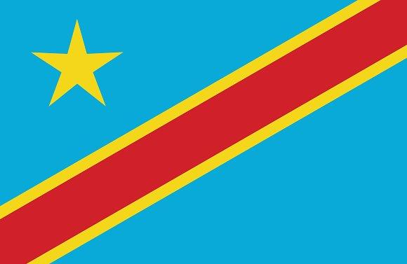 Vector of Congo flag.