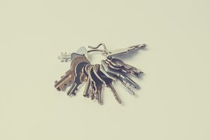 Key ring with keys