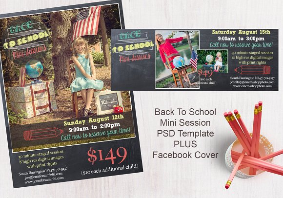 Back To School Chalk Templates