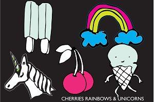 CHERRIES, RAINBOWS & UNICORNS