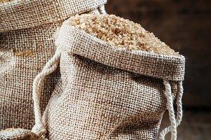 Brown sugar, packed in bags, selecti