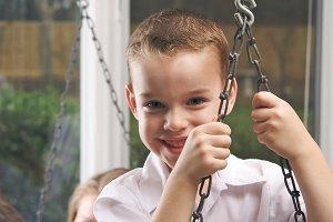 Adorable Young Boy Smiles