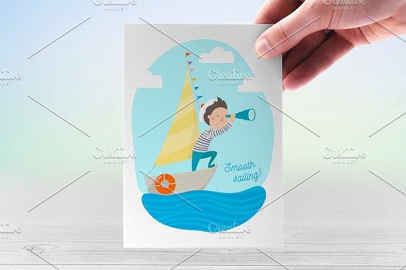 Brave sailor. Vector illustration