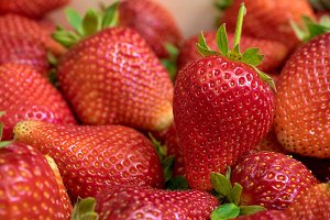 Close up of fresh strawberry