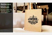 Paper Bag Mockup / Restaurant Mockup