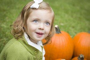 Cute Young Child Girl Enjoying the P