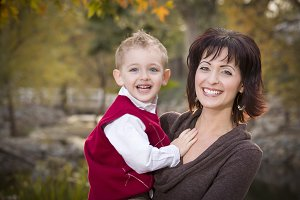 Attractive Mother and Son Portrait O