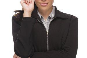 Confident Mixed Race Businesswoman T