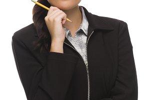 Confident Mixed Race Businesswoman H