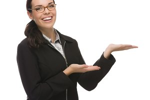 Confident Mixed Race Businesswoman G
