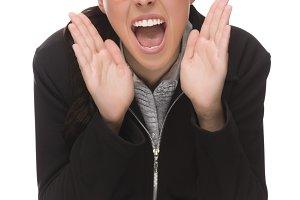 Angry Mixed Race Businesswoman Yelli