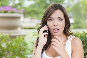 Shocked Young Adult Female Talking o