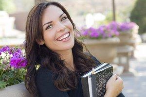 Pretty Young Female Student Portrait