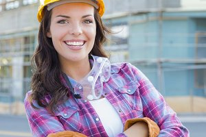 Young Attractive Female Construction