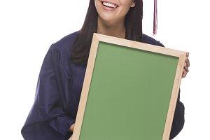 Mixed Race Female Graduate in Cap an