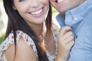 Mixed Race Romantic Couple Portrait