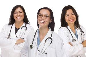Three Hispanic and Mixed Race Female