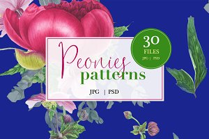 Peonies patterns