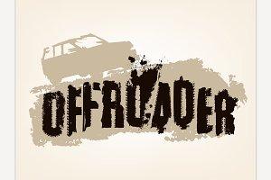 Offroader Grunge Lettering
