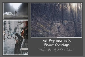 36 Fog and Rain Photo Overlays