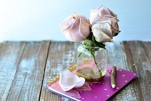 Jumbo Roses Desk Setup 3