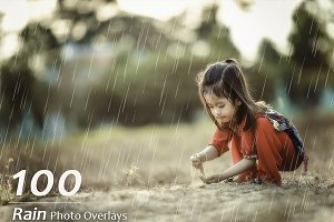 100 Rain Photo Overlays