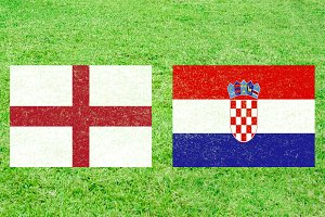 England vs Croatia Soccer Match with
