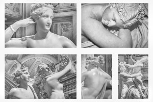 Borghese Gallery Sculptures Set Phot