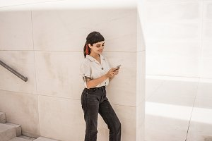 Girl using her smartphone