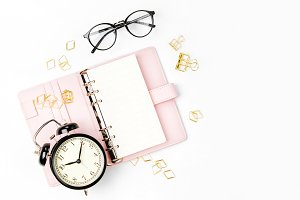 Planner with alarm clock