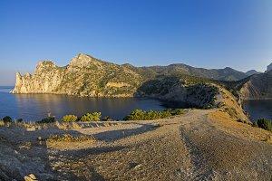 Small bay on the Black Sea coast.