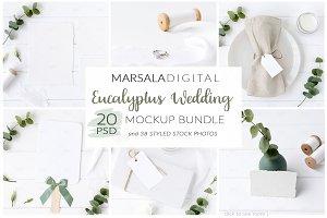 Eucalyptus Wedding Mockup Bundle