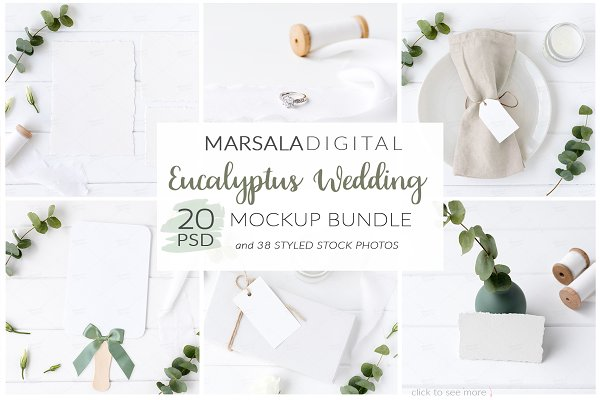 Eucalyptus Wedding Mockup Bundle