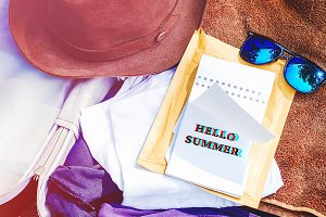 Hello summer. the inscription on the