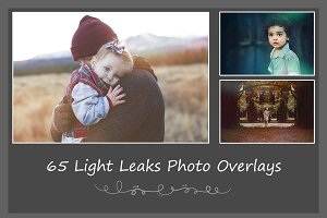 65 Light Leaks Photo Overlays