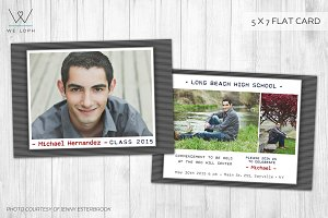 Senior Boy Graduation card template