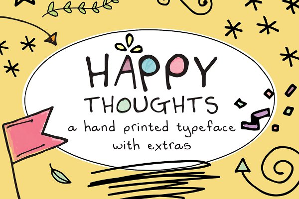 Display Fonts - Happy Thoughts