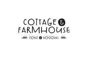 Cottage & Farmhouse Font + Doodles