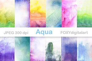 Watercolor Digital Papers Scrapbook