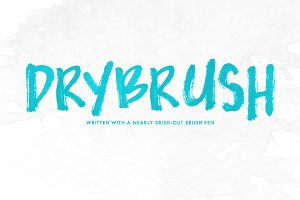 Drybrush — OpenType SVG Font Trio