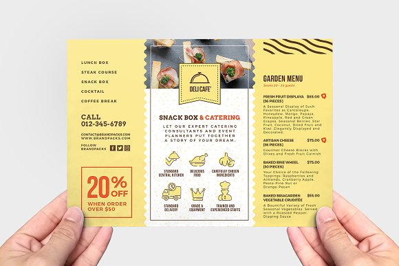 catering service flyer template flyer templates creative market
