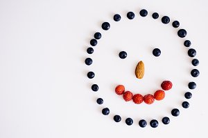 happy smiley of berries