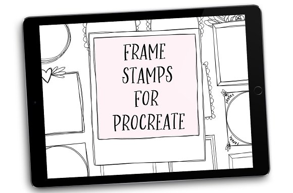 Frame Brush Stamps for Procreate