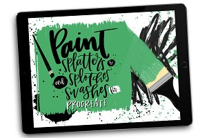 Paint Splatter Stamps for Procreate